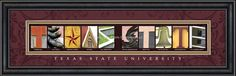 Texas State University Campus Letter Art for Sale