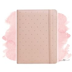 A5 Planner binder with dots in peach at TanyaBrittany shop