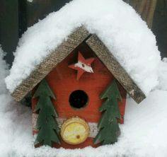 Snowed in birdhouse