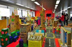 Cardboard City Den Building, Jamestown Colony, Cardboard City, Group Art Projects, Museum Education, Block Play, Build A Better World, Summer Reading Program, Creative Curriculum