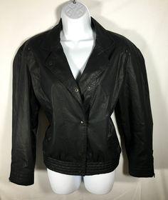 Vintage Women's Black MEMBERS ONLY Lined Jacket 11/12 80's Halloween Costume #MembersOnly #Motorcycle