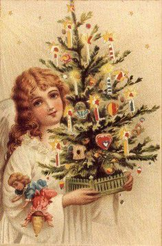 Vintage Tree - Christmas Tree - Vintages Cards - Christmas Wallpapers, Free ClipArt for Xmas, Icon's, Web Element, Victorian Christmas Photos and Vintage Santa Claus pictures Vintage Christmas Images, Old Fashioned Christmas, Christmas Past, Victorian Christmas, Vintage Holiday, Christmas Pictures, Christmas Angels, Christmas Greetings, Christmas Postcards