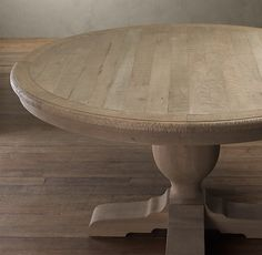 Table...Restoration Hardware...I wonder if I can have my black table stripped and made to look like this.