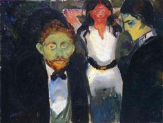 Jealousy. From the series The Green Room - Edvard Munch