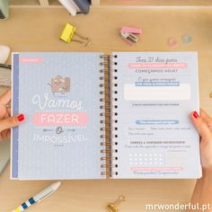Agenda 2016 - 2017 Vista diaria - Coisas por fazer e 365 histórias emocionantes à tua espera (PT) - Mr. Wonderful