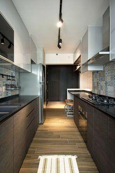Small contemporary kitchen design inside stylish home in Singapore - Decoist