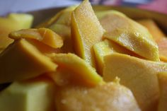 We love mango! The yellow and sweet fruit that goes well with almost everything. #snack #healthy #mango #delicious