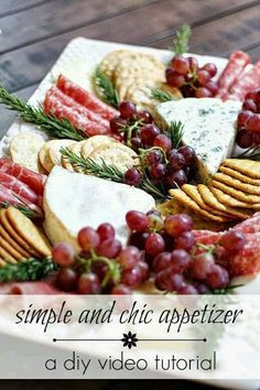 62 Ideas For Cheese Tray Christmas Antipasto Platter Snacks Für Party, Appetizers For Party, Appetizer Recipes, Meat Appetizers, Simple Appetizers, Christmas Appetizers, Christmas Cheese, Party Drinks, White Christmas