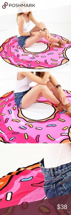 Pink Donut Beach Cover Up / Towel Pink donut Beach Cover Up. Towel material. Perfect for summer Bare Anthology Swim Coverups