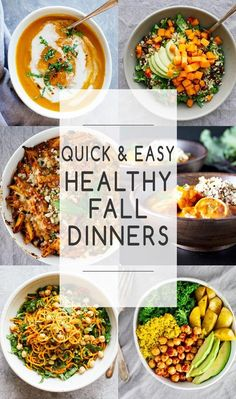 These are some of my favorite go-to dinners for busy fall weeknights. All of these are easy to make, healthy, and amazing! Here are some of my favorite Quick & Easy Healthy Fall Dinners! Easy Cooking, Healthy Cooking, Healthy Eating, Cooking Recipes, Cooking Ideas, Beef Recipes, Lunch Recipes, Quick Healthy Meals, Easy Meals