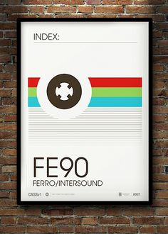 """""""Dont Forget The Cassette"""" No.7 – Minimalist Posters of Cassette Tape Labels by Neil Stevens (8 Pictures)"""