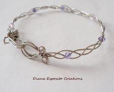 Swarovski Ribbon Bangle | JewelryLessons.com..Look at the beautiful clasp!