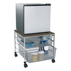 Platinum+elfa+Mesh+Compact+Fridge+Cart