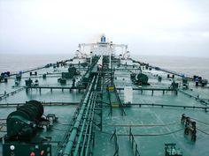 Huge tanker at sea