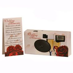 Red Roses Disposable Wedding Camera - WrapWithUs Wedding Favors