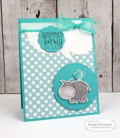 Kendra's Card Company: Hippo birdy to you   Taylored Expressions Release Day ~ Let's Get WILD!