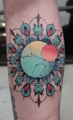 Mandala Tattoo by Cody Eich at Studio 13 in Fort Wayne, Indiana.