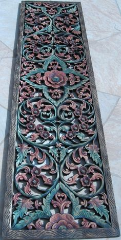 Add unique character to your space with these beautiful intricate hand carved teak wood panels. Carved Wood Wall Art, Wood Carving Art, Wooden Art, Wood Carvings, Hand Carved, Jaali Design, Home Decor Furniture, Plywood Furniture, Modern Furniture