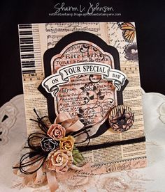 On Your Special Day designed for The Stamp Simply Ribbon Store using product by Prima and May Arts.