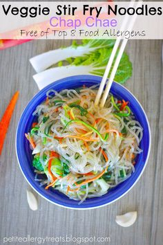 veggie stir fry noodles - gluten-free, dairy-free and allergy friendly!