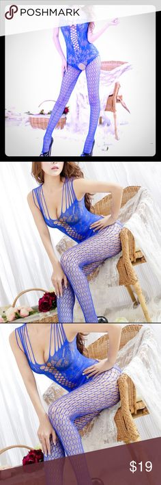 Sexy electric ⚡️ blue body stocking Sexy electric ⚡️ blue body fishnet stocking. New in packaging. All sales are final. No refund or exchanges.  If you need more pictures please ask. Intimates & Sleepwear
