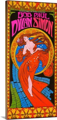 Bob Dylan & Paul Simon Art Nouveau Psychedelic concert poster by: BobMasseStudios on Etsy Poster Art, Retro Poster, Kunst Poster, Poster Prints, Art Prints, Rock Posters, Band Posters, Posters Diy, Psychedelic Art