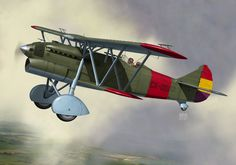 Fiat CR.32 captured by the Spanish Republican Air Forces on October 12, 1937. Aviation Art, Fiat, Painting & Drawing, Spanish, Aircraft, Digital Art, Wings, October, Canvas