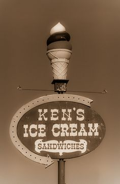 Ken's Ice Cream - Route 66  IT HAS MY NAME ON IT MY PLACE THEN