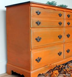 The 36th AVENUE | 60 DIY Furniture Makeovers. Orange buffet. Dresser redo?