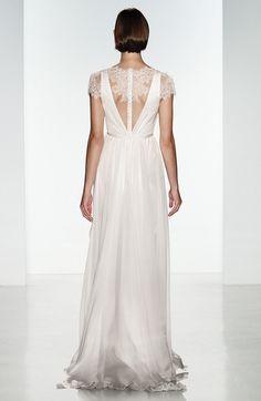 6884a689102 Christos Bridal  Lainee  Silk Chiffon  amp  Lace Cap Sleeve Gown Christos  Wedding Dresses