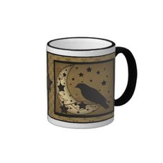 Starlight Crow Primitive Mug. like this pic, going to try to paint it :)