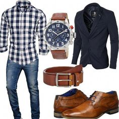 Business outfit with shirt, jacket and destroyed jeans - outfit .- Business-Outfit mit Hemd, Sakko und destroyed Jeans – Business outfit with shirt, jacket and destroyed jeans – - Butch Fashion, Look Fashion, Mode Chic, Mode Style, Men's Style, Mode Outfits, Casual Outfits, Fashion Outfits, Womens Fashion