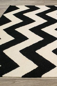 Love this! Wylin Wool Rug - Black/Grey on HauteLook
