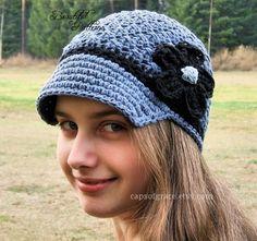 Crochet Hat Pattern Womens Daisy Visor Beanie Crochet PDF 150 Newborn to Adult  Photography Prop Instant Download