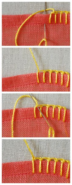Knotted Buttonhole Stitch tutorial #Embroidery #tutorial #DIY