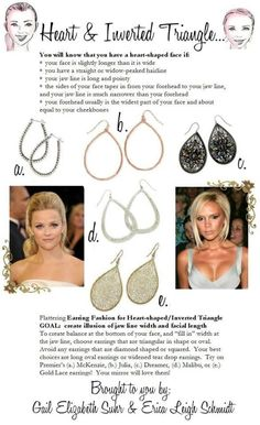 Did you know certain earrings flatter your face better?