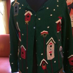 Vintage ugly christmas sweater with bird by aPEACEofCLOTHING