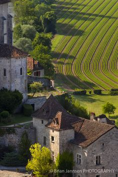 View over Saint-Cirq-Lapopie in the Lot Valley, Midi-Pyrenees