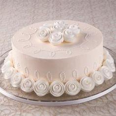 elegant ivory buttercream cake.