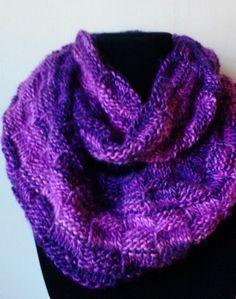 Infinity scarf, knit in Petunia yarn , done by Jodi Villanella