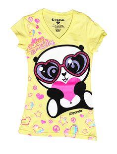 lil'panda fashion tee shirts the cutest panda in the world