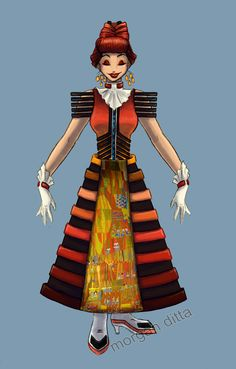 Mary Blair/Contemporary Dress.  I have but two words: Monorail Shoes!