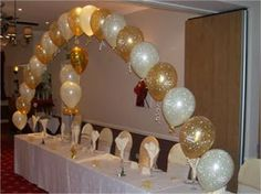 Gold & Ivory Arch from Annabelles Balloons - Annabelles Balloons