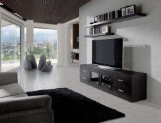 mesas de televisin de madera natural modelo drogo wengu