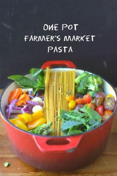 One Pot Farmer's Market Pasta  | The View From Great Island