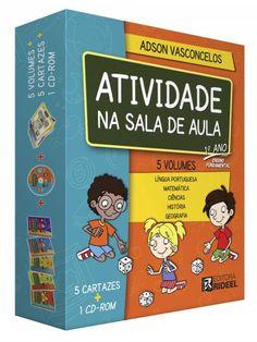 Coleção Atividade na Sala de Aula 1 Ano - ISBN 9788533937529 - 5 VOLUMES + CARTAZES + CD COM ATIVIDADES PARA IMPRIMIR