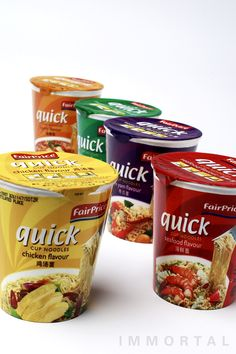 FairPrice Quick cup noodles packaging design by IMMORTAL Brand Engagement