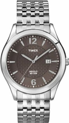 Timex Men's T2N848 Elevated Classics Dress Bronze Dial Silver-Tone Expansion Band Watch Timex. $37.15. Indiglo® Night-Light. Durable mineral crystal protects watch from scratches. Stainless steel expansion band. Water-resistant to 99 feet (30 M). Water-resistant to 30 meters