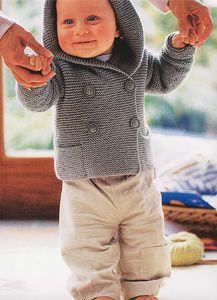 Free Knitting Pattern - Baby Knits: Seed Stitch Hooded Baby Jacket ...