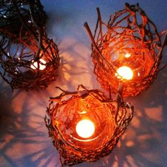 Handwoven candle holders | The Art of Weaving